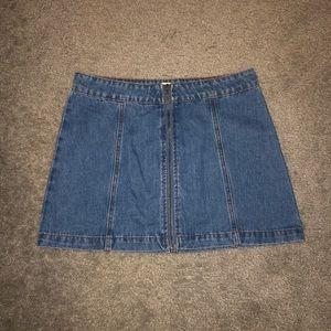 XS Altar'd State Denim Skirt